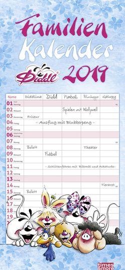 times&more Diddl Familienplaner – Kalender 2019 von Heye