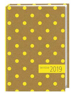 times&more Kalenderbuch Punkte gelb – Kalender 2019 von Heye