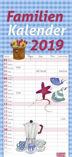 times&more Schaffner Familienplaner – Kalender 2019 von Heye, Schaffner,  Maren