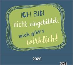 times&more Typo Bildkalender 2022 von Heye