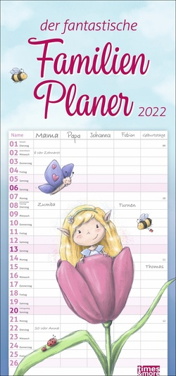 times&more Zauberwesen Familienplaner Kalender 2022 von Heye