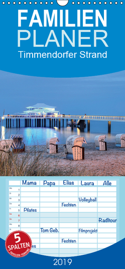 Timmendorfer Strand – Familienplaner hoch (Wandkalender 2019 , 21 cm x 45 cm, hoch) von Hasche,  Joachim