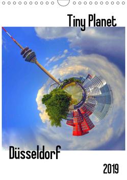 Tiny Planet Düsseldorf (Wandkalender 2019 DIN A4 hoch) von Bergenthal,  Jürgen