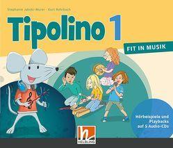Tipolino 1 – Fit in Musik, 5 Audio-CDs, Ausgabe Schweiz von Jakobi-Murer,  Stephanie, Rohrbach,  Kurt