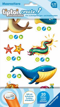 tiptoi® CREATE Sticker Meerestiere von Nöldner,  Pascal