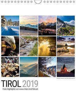 Tirol 2019 (Wandkalender 2019 DIN A4 hoch) von Reicher,  Thomas
