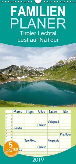 Tiroler Lechtal – Lust auf NaTour – Familienplaner hoch (Wandkalender 2019 , 21 cm x 45 cm, hoch) von Riedmiller,  Andreas