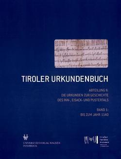 Tiroler Urkundenbuch von Bitschnau,  Martin, Obermair,  Hannes