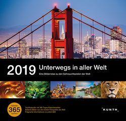 Tischkalender Unterwegs in aller Welt 2019