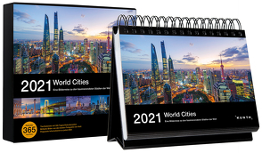 Tischkalender World Cities 2021 von KUNTH Verlag