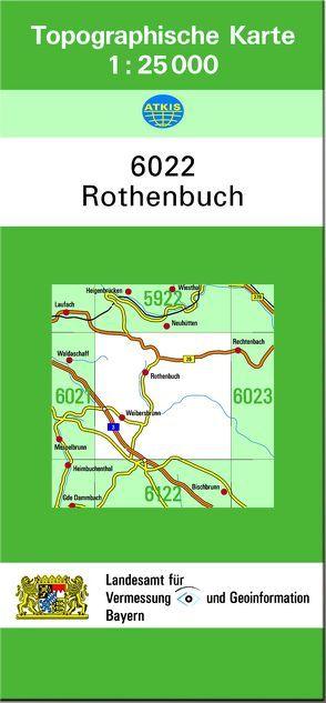 TK25 6022 Rothenbuch von Landesamt für Digitalisierung,  Breitband und Vermessung,  Bayern