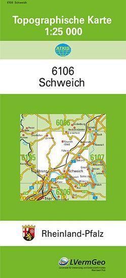 TK25 6106 Schweich von Landesamt für Vermessung und Geobasisinformation Rheinland-Pfalz