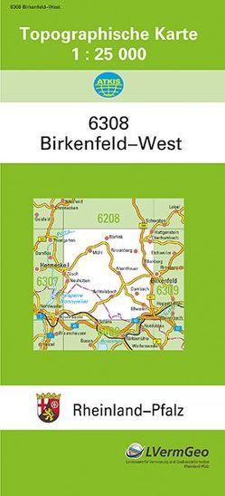 TK25 6308 Birkenfeld-West von Landesamt für Vermessung und Geobasisinformation Rheinland-Pfalz