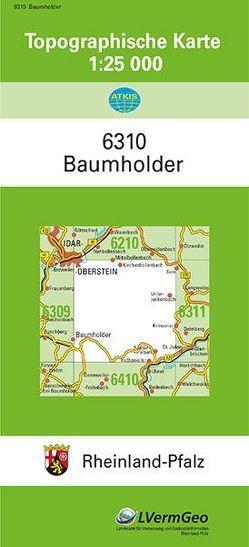 TK25 6310 Baumholder von Landesamt für Vermessung und Geobasisinformation Rheinland-Pfalz