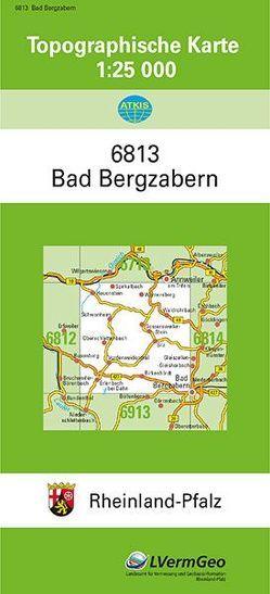 TK25 6813 Bad Bergzabern von Landesamt für Vermessung und Geobasisinformation Rheinland-Pfalz