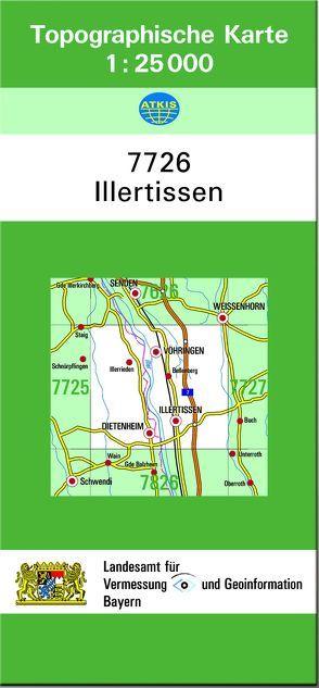 TK25 7726 Illertissen von Landesamt für Digitalisierung,  Breitband und Vermessung,  Bayern