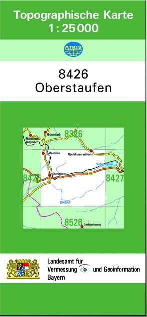 TK25 8426 Oberstaufen von Landesamt für Digitalisierung,  Breitband und Vermessung,  Bayern