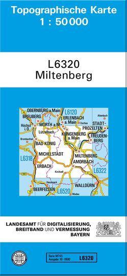 TK50 L6320 Miltenberg von Landesamt für Digitalisierung,  Breitband und Vermessung,  Bayern