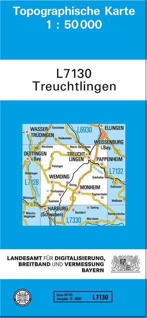 TK50 L7130 Treuchtlingen von Landesamt für Digitalisierung,  Breitband und Vermessung,  Bayern