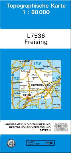 TK50 L7536 Freising von Landesamt für Digitalisierung,  Breitband und Vermessung,  Bayern