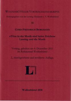 """""""Töne in der Musik sind keine Zeichen"""". Lessing und die Musik. von Berghahn,  Cord-Friedrich"""
