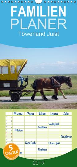 Töwerland Juist – Familienplaner hoch (Wandkalender 2019 , 21 cm x 45 cm, hoch) von Geißler,  Uli