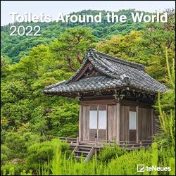 Toilets Around the World 2022 – Wand-Kalender – Broschüren-Kalender – 30×30 – 30×60 geöffnet – Toiletten-Kalender