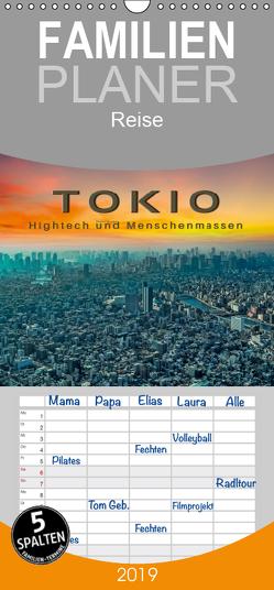 Tokio – Hightech und Menschenmassen – Familienplaner hoch (Wandkalender 2019 , 21 cm x 45 cm, hoch) von Roder,  Peter