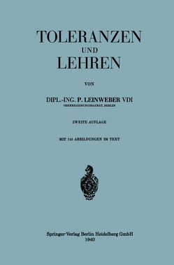 Toleranzen und Lehren von Leinweber,  Paul