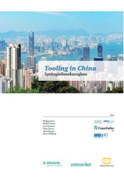 Tooling in China von Begovic,  Advan, Dr. Boos,  Wolfgang, Hensen,  Tobias, Johannsen,  Lars, Salmen,  Michael, Wollbrink,  Moritz