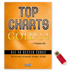 Top Charts Gold 14 (mit 2 CDs + Midifiles, USB-Stick)