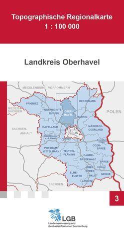 Topographische Regionalkarte 1:100000, Landkreis Oberhavel