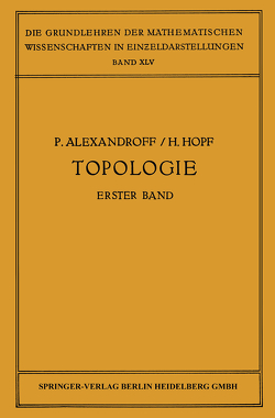 Topologie I von Alexandroff,  Paul, Hopf,  H.