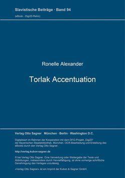 Torlak Accentuation von Alexander,  Ronelle