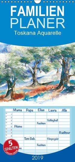 Toskana Aquarelle – Familienplaner hoch (Wandkalender 2019 , 21 cm x 45 cm, hoch) von Krause,  Jitka