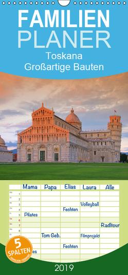 Toskana – Großartige Bauten – Familienplaner hoch (Wandkalender 2019 , 21 cm x 45 cm, hoch) von LianeM