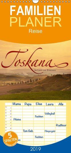 TOSKANA Im Land der Zypressen – Familienplaner hoch (Wandkalender 2019 , 21 cm x 45 cm, hoch) von Seidel,  Leo