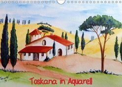 Toskana in Aquarell (AT-Version) (Wandkalender 2019 DIN A4 quer) von Huwer (Gute-Laune-Bilder-Huwer),  Christine