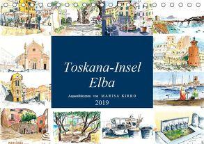 Toskana-Insel Elba – Aquarellskizzen (Tischkalender 2019 DIN A5 quer) von Kirko,  Marisa
