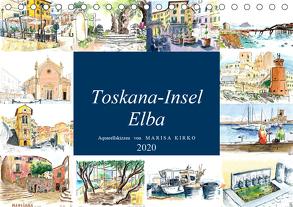 Toskana-Insel Elba – Aquarellskizzen (Tischkalender 2020 DIN A5 quer) von Kirko,  Marisa