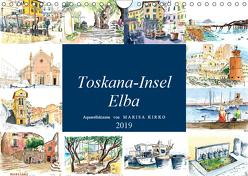 Toskana-Insel Elba – Aquarellskizzen (Wandkalender 2019 DIN A4 quer) von Kirko,  Marisa