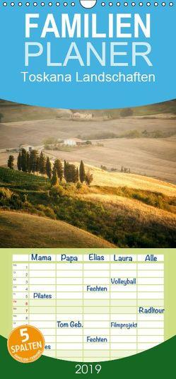 Toskana Landschaften – Familienplaner hoch (Wandkalender 2019 , 21 cm x 45 cm, hoch) von Gann (magann),  Markus