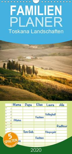 Toskana Landschaften – Familienplaner hoch (Wandkalender 2020 , 21 cm x 45 cm, hoch) von Gann (magann),  Markus