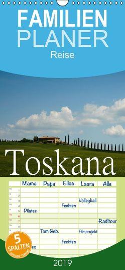Toskana – Sanfte Landschaft – Familienplaner hoch (Wandkalender 2019 , 21 cm x 45 cm, hoch) von Stehle,  Brigitte