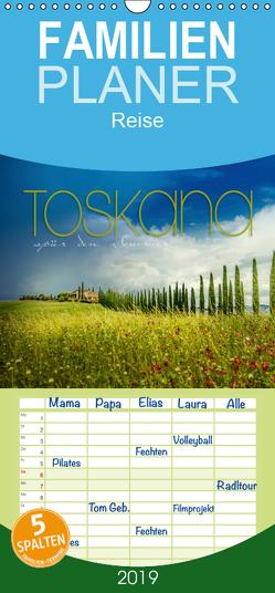 Toskana – spür den Sommer – Familienplaner hoch (Wandkalender 2019 , 21 cm x 45 cm, hoch) von pageMaker,  YOUR, Schöb,  Monika