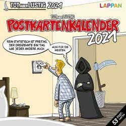 Tot, aber lustig! Postkartenkalender 2021 von Holtschulte,  Michael