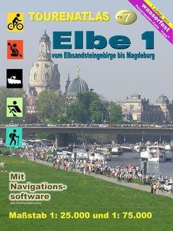 TourenAtlas Nr.7 Elbe-1 von Jübermann,  Erhard