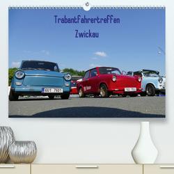 Trabantfahrertreffen Zwickau (Premium, hochwertiger DIN A2 Wandkalender 2020, Kunstdruck in Hochglanz) von Richter,  Heiko