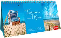 Träume vom Meer 2020: 3-teiliger Tischkalender mit Monatskalendarium von Groh Redaktionsteam