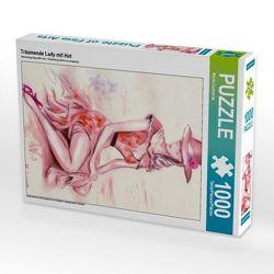 Träumende Lady mit Hut 1000 Teile Puzzle hoch von Zacharias,  Marita